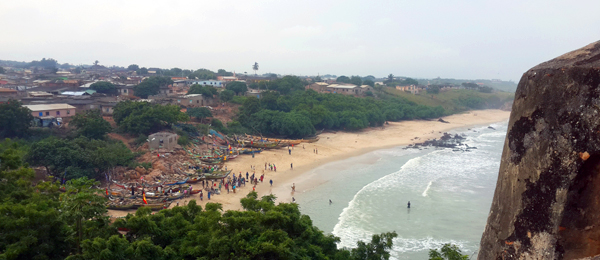 View of the Senya Beraku beach