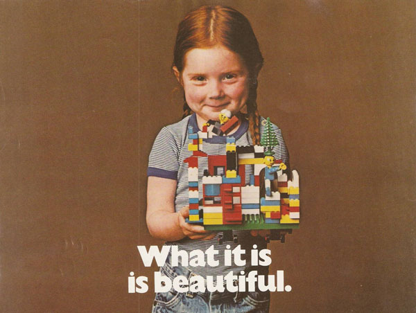 LEGO advert from 1981 with text 'What it is is beautiful'