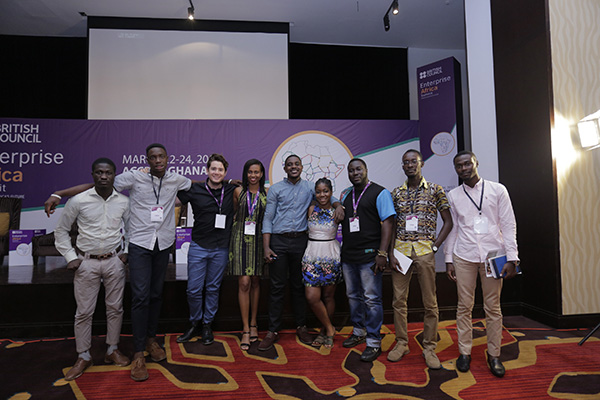 Group photo with the social media team at Enterprise Africa Summit in Ghana 2017