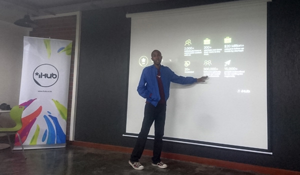 Benson Mutahi at iHub in Nairobi